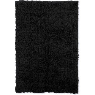 Linon Flokati Heavy Black Rug (2' x 5') - 2' x 5'