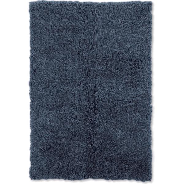 "Linon Flokati Heavy Denim Blue Rug (2' x 5') - 2'4"" x 4'3"""