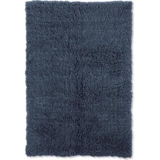 Linon Flokati Heavy Denim Blue Rug (2' x 5')