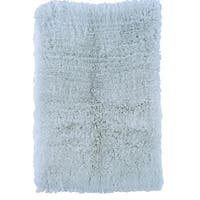 "Linon Flokati Heavy Pastel Blue Rug (2' x 5') - 2'4"" x 4'3"""