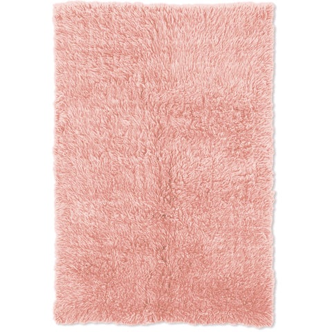 Linon Flokati Heavy Pastel Pink Rug (2' x 5') - 2'4 x 4'3