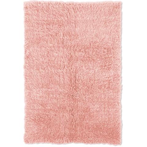 Linon Flokati Heavy Pastel Pink Rug (2' x 8') - 2' x 8'