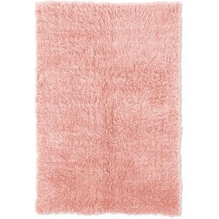 Linon Flokati Heavy Pastel Pink Rug (2' x 8')