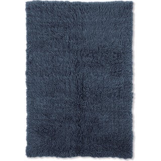 Linon Flokati Heavy Denim Blue Rug (2' x 8')