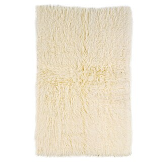 Linon Flokati Heavy Natural Rug (2' x 8')