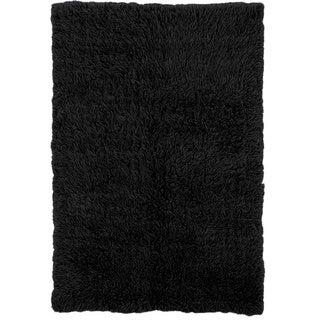 Linon Flokati Heavy Black Rug (4' x 6')