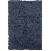 Linon Flokati Heavy Denim Blue Rug (4' x 6') - 4' x 6'