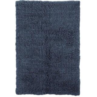Linon Flokati Heavy Denim Blue Rug (4' x 6')