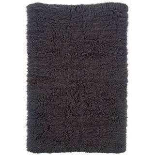 Linon Flokati Heavy Grey Rug (4' x 6')