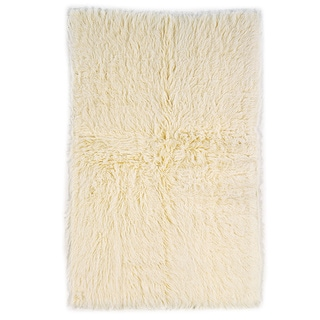Linon Flokati Heavy Natural Rug (3'6 x 5'6)
