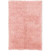 Linon Flokati Heavy Pastel Pink Rug (4' x 6') - 3'6 x 5'6