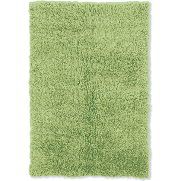 Lime Green Grey Area Rug: Shop Linon Flokati Heavy Lime Green Rug (4' X 6')