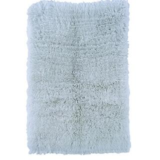 Linon Flokati Heavy Pastel Blue Rug (4' x 6')