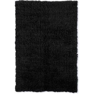 Linon Flokati Heavy Black Rug (5' x 8')