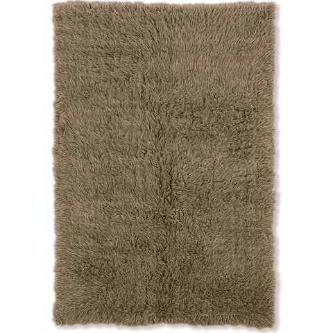 Linon Flokati Heavy Natural Rug