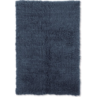 Linon Flokati Heavy Denim Blue Rug (5' x 8')