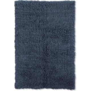 Linon Flokati Heavy Denim Blue Rug (5' x 8')