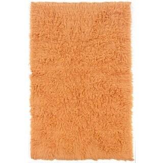 Linon Flokati Heavy Pumpkin Rug (8' x 10')