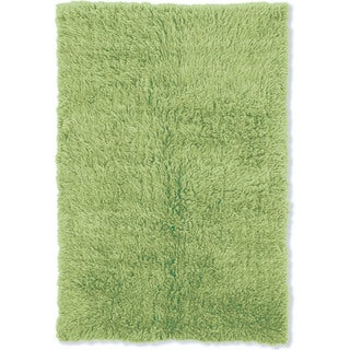 Linon Flokati Heavy Lime Green Rug (8' x 10')