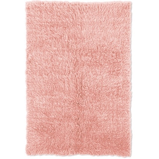 Linon Flokati Heavy Pastel Pink Rug (8' x 10')