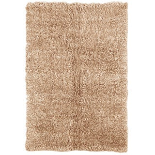 Linon Flokati Super Heavy Tan Rug (3' x 5')