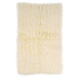 Linon Flokati Super Heavy Natural Rug - 3' x 5'