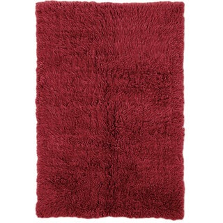 Linon Flokati Super Heavy Red Rug (3' x 5')