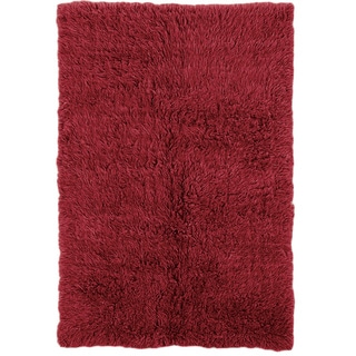 Linon Flokati Super Heavy Red Rug (4' x 6')