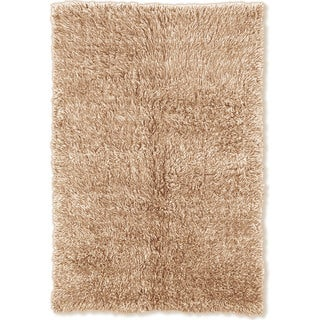 Linon Flokati Super Heavy Tan Rug (5' x 7')