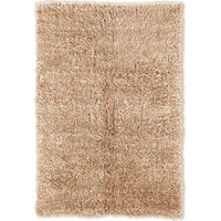 Linon Flokati Super Heavy Tan Rug (6' x 9')