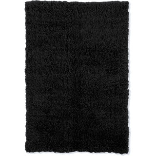 Linon Flokati Super Heavy Black Rug (6' x 9')