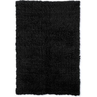 Linon Flokati Super Heavy Black Rug (6' x 9')