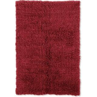 Linon Flokati Super Heavy Red Rug (6' x 9')