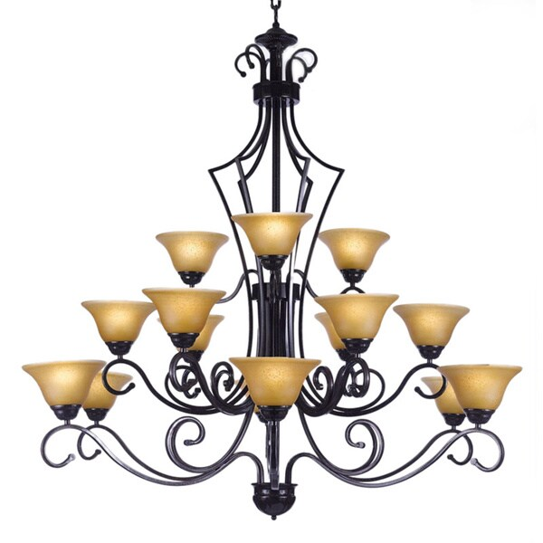 Shop gallery versailles 15 light wrought iron chandelier black gallery versailles 15 light wrought iron chandelier black aloadofball Gallery