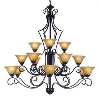Buy wrought iron ceiling lights online at overstock our best gallery versailles 15 light wrought iron chandelier black aloadofball Gallery
