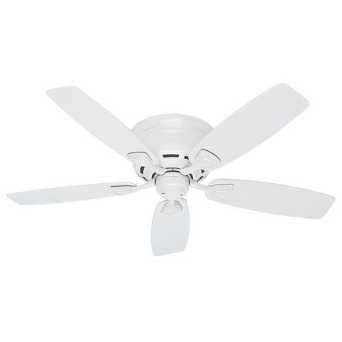 """Hunter 48"""" Sea Wind Outdoor Low Profile Ceiling Fan with Pull Chain, Damp Rated"""