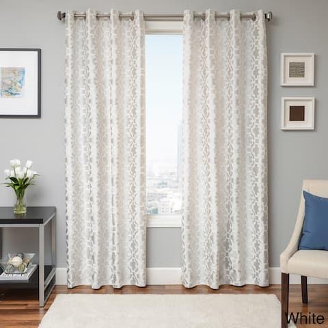 Softline Peyton Tile Woven Jacquard Grommet Top Curtain Panel