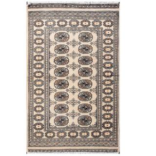 Handmade One-of-a-Kind Bokhara Wool Rug (Pakistan) - 3'1 x 5'