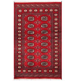 Handmade One-of-a-Kind Bokhara Wool Rug (Pakistan) - 3'1 x 4'11