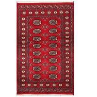 Handmade Herat Oriental Pakistani Tribal Bokhara Wool Rug  - 3'1 x 4'11 (Pakistan)