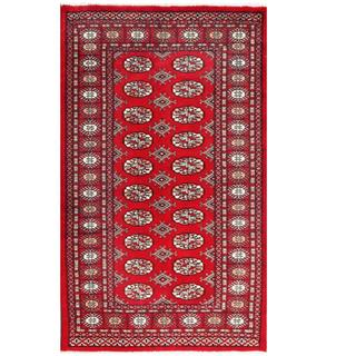 Herat Oriental Pakistani Hand-knotted Tribal Bokhara Wool Rug (3'1 x 5'1)