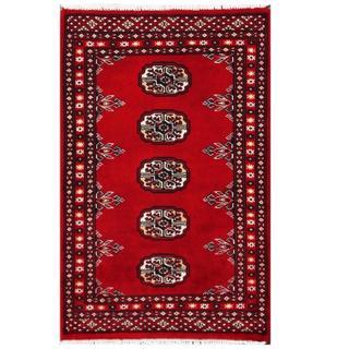 Herat Oriental Pakistani Hand-knotted Tribal Bokhara Wool Rug (1'11 x 3')