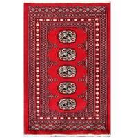 Handmade Herat Oriental Pakistani Tribal Bokhara Wool Rug (Pakistan) - 2'1 x 3'2