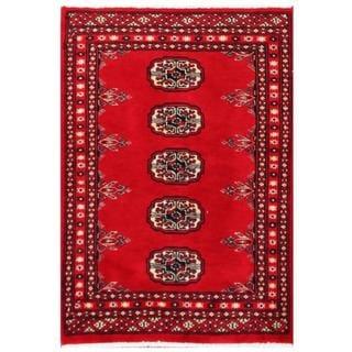 Herat Oriental Pakistani Hand-knotted Tribal Bokhara Wool Rug (1'11 x 2'9)