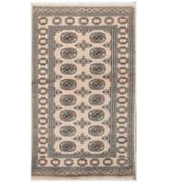 Herat Oriental Pakistani Hand-knotted Tribal Bokhara Wool Rug (3'1 x 5'2)