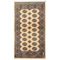Herat Oriental Pakistani Hand-knotted Tribal Bokhara Wool Rug (2'11 x 5'4)