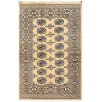 Herat Oriental Pakistani Hand-knotted Tribal Bokhara Wool Rug (3'1 x 4'10)