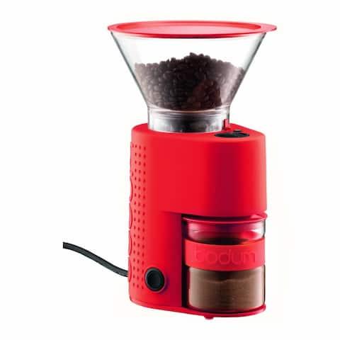 Bodum BISTRO Electronic Burr Coffee Grinder, Adjustable Grind, Red