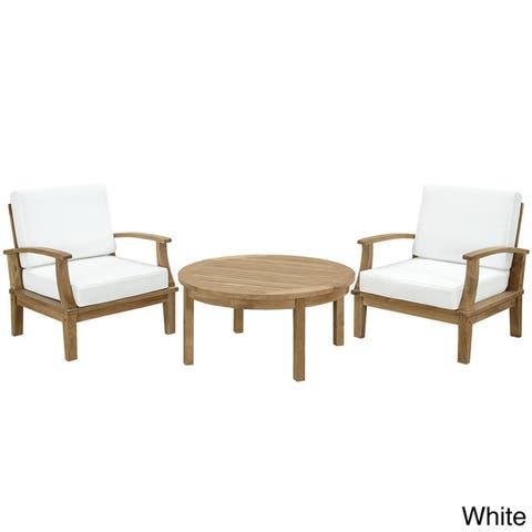 Pier 3-piece Outdoor Patio Teak Sofa Set