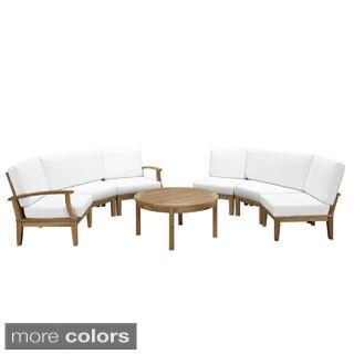 Pier 7-piece Outdoor Patio Teak Wood Sofa Set